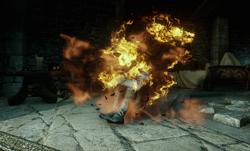 Connor burning