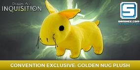 Плюшевый золотой наг