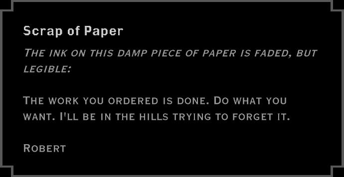Note: Scrap of Paper