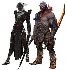 Qunari female and male