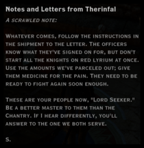 Notes and Letters from Therinfal 2
