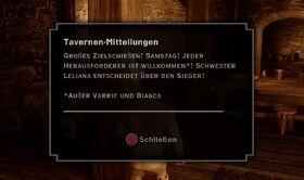 Tavernen Mitteilung