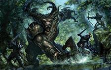 Dragon Age Ogre Fight by tycarey