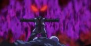 El maestro de Jiren sacrificándose
