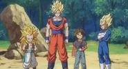 Goku,Vegeta y Gotenks en db discross