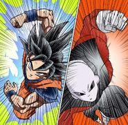 Son Goku VS Jiren (manga)