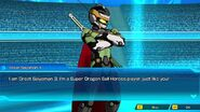 SDBH World Mission Ch1, Sub Ch1 - My Thrilling First Battle! Great Saiyaman 3 introduction to Beat (Dialogue Cutscene)