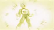 Vegeta liberando la Explosión Final