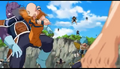 Krillin kicks a Frieza Soldier who attacked Roshi. Fisshi-Esque on the back, Resurrection 'F', IsraeliteVIP pic snap