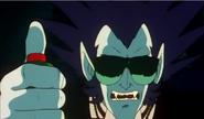 Lucifer acciona el cañon laser