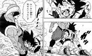 Son Goku crolla esanime