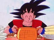 EP149DB Goku disfruta las exquisiteses del servicio de Gyuma