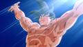 Goku using the Spirit Bomb