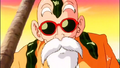 Master Roshi covered in seaweed
