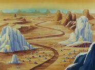 Edo dragon-ball desert-rocks-loom-angle chappa-village dry-river
