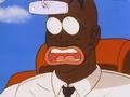 Officer Black surprised by Goku