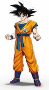 Arte conceptual de Son Goku en Superhéroe