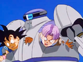 11. Bizu captures Goku and Trunks inside his body