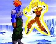 Goku Super Saiyajin vs Super Androide Numero 13