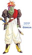 Gokua arte conceptual Toriyama