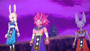 SDBH Big Bang Mission 5 (BM5) God of Destruction Elite (Female GoD avatar), God of Destruction Berserker, & God of Destruction Hero (Beerus' race avatar)