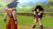 Goku hablando con raditz