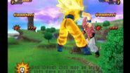 Kid Boo Golpeando a Goku BT3