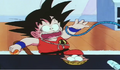 Kid goku aboutto be tied up