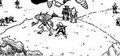 DXRD Caption of a Yakon-esque (Ankoku-seijin) & Pui Pui-esque (Zoon-seijin) PTO soldier in Revival of F manga chapter 2