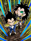 Dokkan Battle Fearless Planet Invasion Vegeta (Kid) & Raditz (Kid) Japanese card (Story Event - Three Saiyans Driven by Fate)