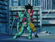 Eis Shenron muere en manos de Goku