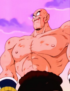Nappa se prepara para luchar contra Goku