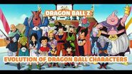 Evolution of Dragon Ball Z Characters