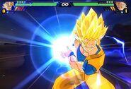 Goku Atacando En Dragon Ball Z Tenkaichi 3