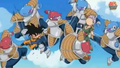 Abo punchs goten in the stomach kado kicks trunks in the face