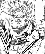 Dragon ball super manga cap 2 - goku super saiyan 2 cerca di colpire beerus
