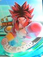 Broly Saiyano 4 al Ultramáximo Poder Rompedor de Límites en el juego de arcade Super Dragon Ball Heroes