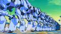 Le robots guerriers en nombre