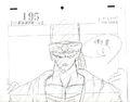 Pikkon layout for Dragon Ball Z Episode 195 by Hitoshi Ehara