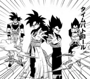 Goku Xeno y Vegeta Xeno Super Saiyan 4 manga