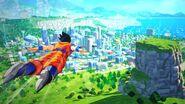 DBZ Kakarot - Goku in volo