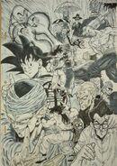 Masaki Sato's drawing of the Piccolo Jr. Saga