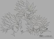 Sketch DBZ11 Broly Legendario (caras)