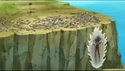 DXRD Caption of Tagoma powers up in front of the Z-Warriors (dead Frieza Soldiers & Shisami between them)