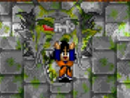 Goten recoge la Llave Ninja