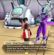 Xenoverse 2 - Cooler describes Dore's wrestling past
