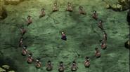 Goku utiliza la Ilusión de Imagen contra Caulifla