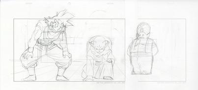Genga de Goku, Dende y Mr. Popo corregido por Naoki Tate EP86 DBS