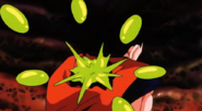 Goku siendo atacado por enzimas