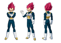 Design de Vegeta en Super Saiyan God (Broly, le film)